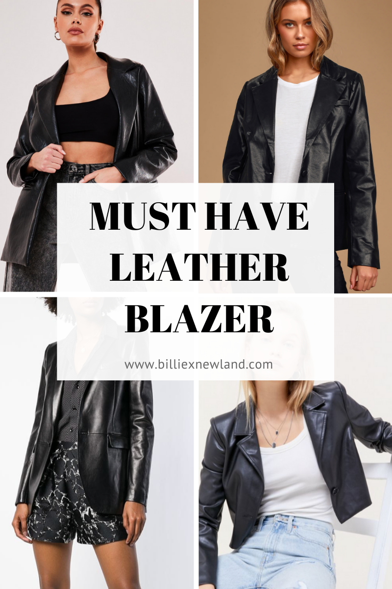 MUST HAVE : Black Leather Blazer